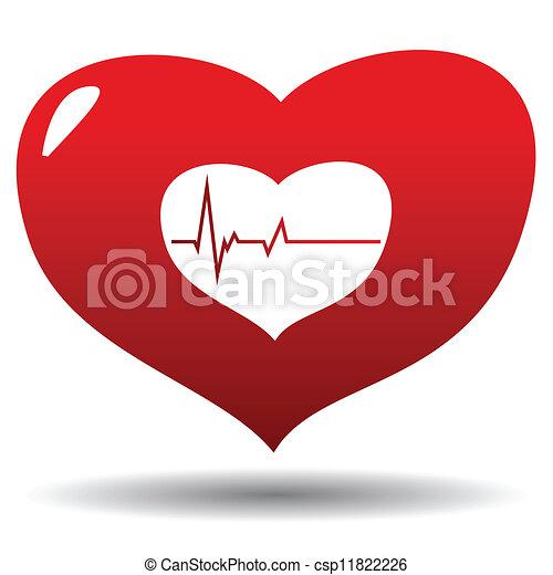 Heart beat - csp11822226