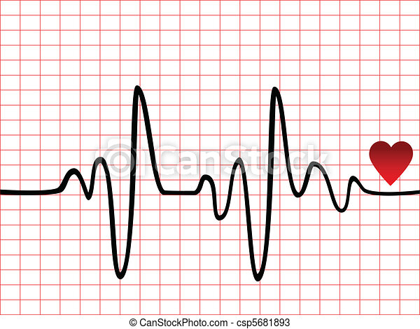 Heart Beat Monitor Or Ekg Canstock