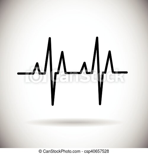 Heart Beat Pulse Medicine Icon - csp40657528