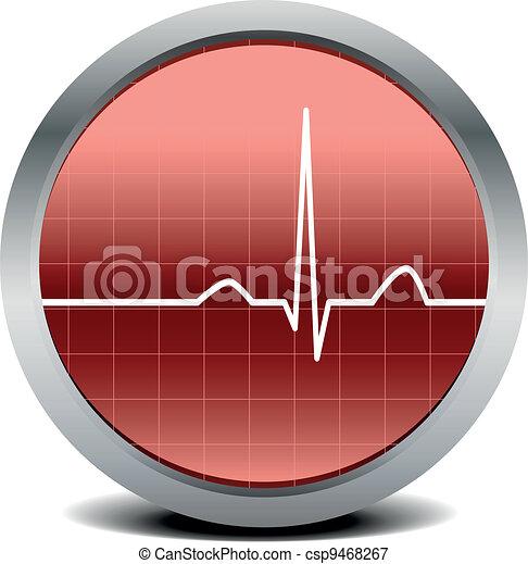 heart beat signal - csp9468267