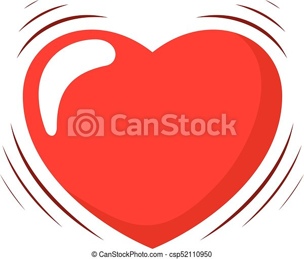 heart beating vector illustration of a cartoon heart with shaking rh canstockphoto com free animated beating heart clipart Horse Clip Art