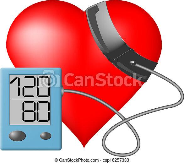 Heart - Blood pressure monitor - csp16257333