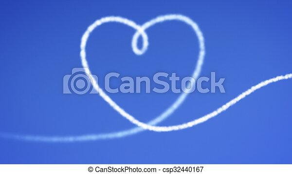 heart blue sky - csp32440167
