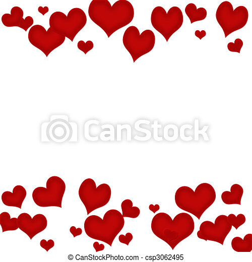 heart border red hearts on a white background heart stock rh canstockphoto com heart page border clipart heart border clipart black and white