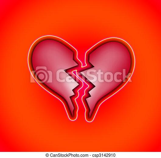 Heart Break A Broken Heart Representing Heartbreak Concepts