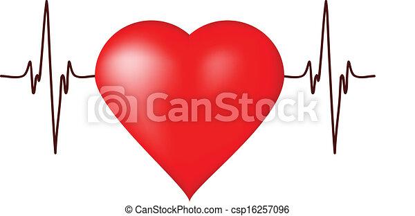 Heart cardiogram - csp16257096