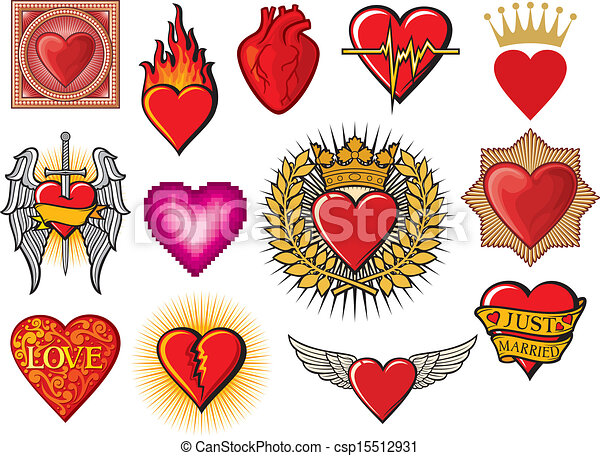 heart collection - csp15512931