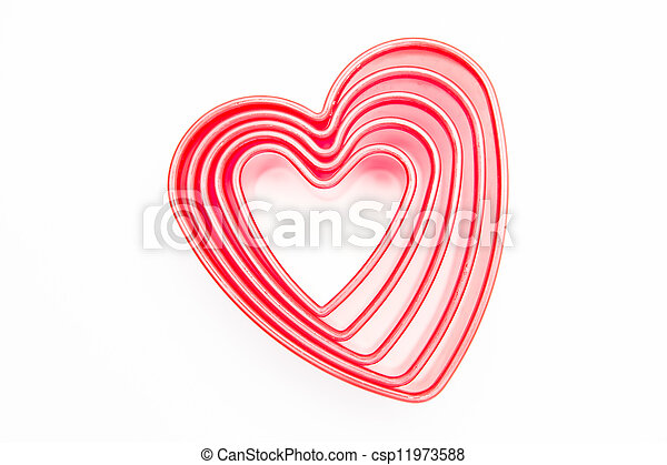 Heart cookie cutters - csp11973588