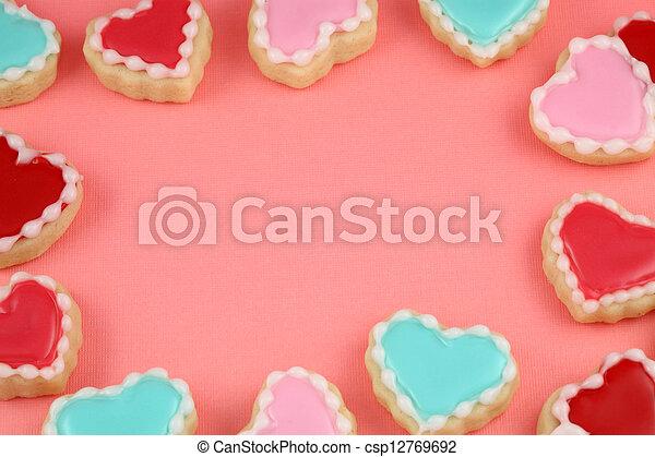 Heart Cookie Frame - csp12769692