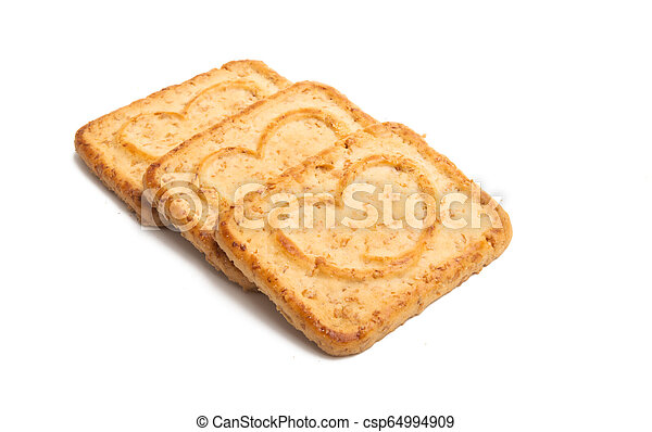 heart cookie isolated - csp64994909