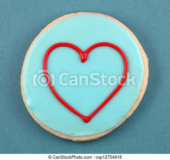 Heart Cookie - csp12754918