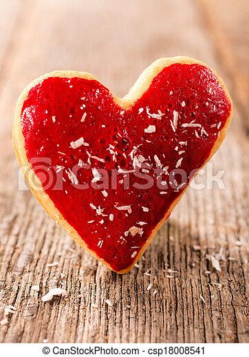 Heart cookie - csp18008541