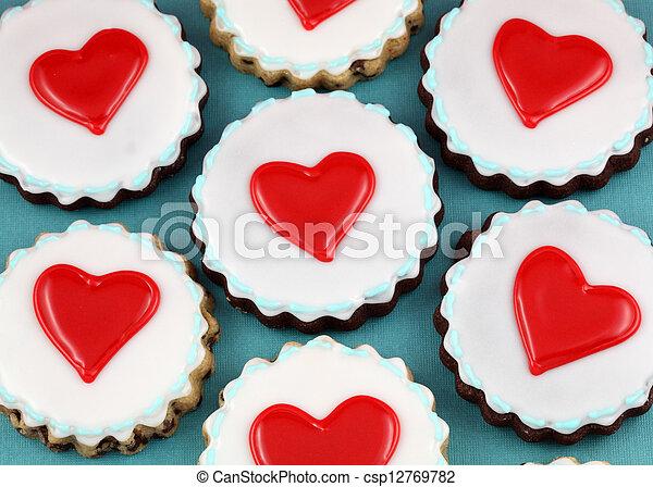 Heart Cookies - csp12769782