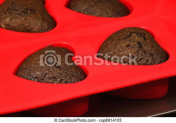 Heart cookies - csp6914103