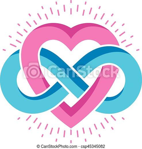 heart cr concept symbole infinit signe vecteur vecteur search clip art. Black Bedroom Furniture Sets. Home Design Ideas