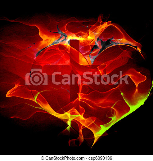 Heart Cross - csp6090136