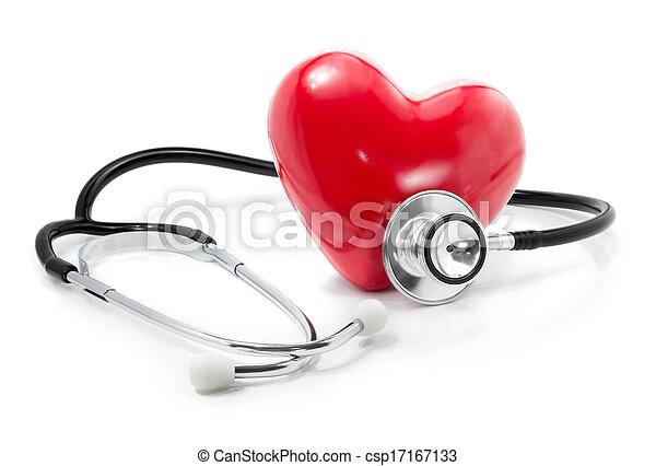 heart:, cuidado, saúde, seu, escutar - csp17167133