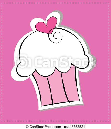 Heart Cupcake - csp43753521