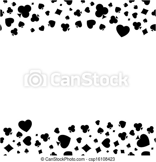 Heart Diamond Spade And Clubs Bor The Seamless Pattern Made Out