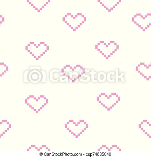 Heart Doodles Seamless Love Pattern Hand Drawn Brushed Hearts Background Texture For Valentine S Day Heart Doodles