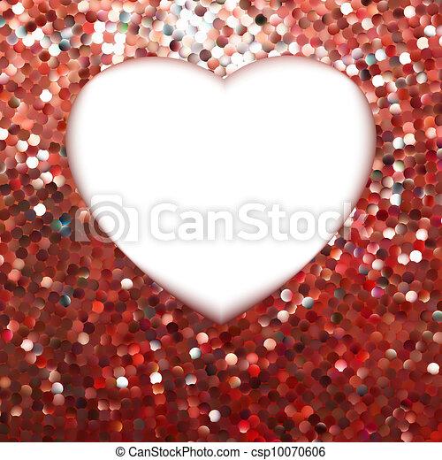 heart., eps, forme, 8, renommée, rouges - csp10070606