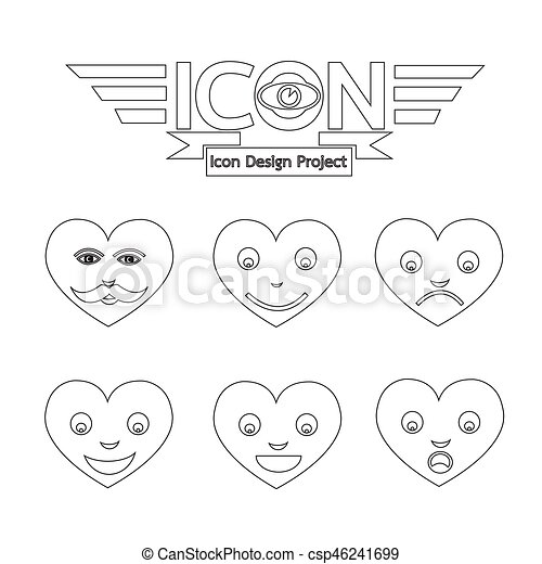 Heart Face Emotion Icon - csp46241699