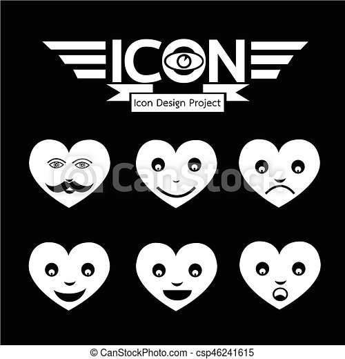 Heart Face Emotion Icon - csp46241615