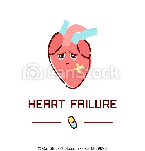 Heart failure poster - csp40889698