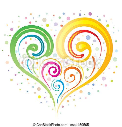 heart floral - csp4459505