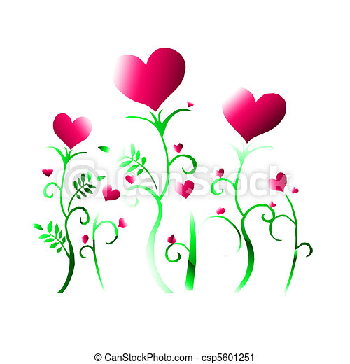 heart flowers hearts and flowers rh canstockphoto com clipart hearts and flowers clip art hearts and flowers