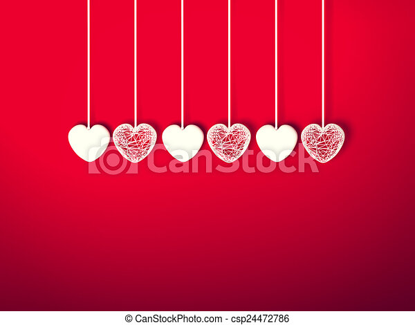 Heart for Valentines Day Background - csp24472786