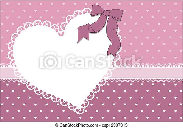 heart frame scrapbook background - csp12307315