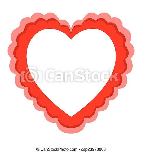Heart frame. Artistic decorative love heart vector frame design.