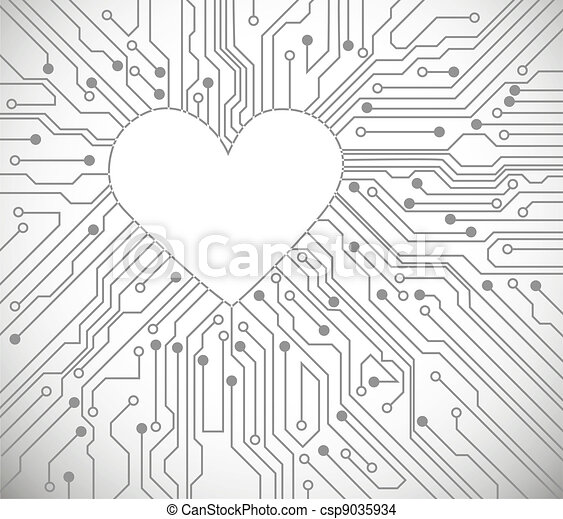 Heart from circuit - csp9035934