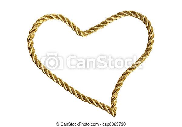 Heart from golden thread - csp8063730