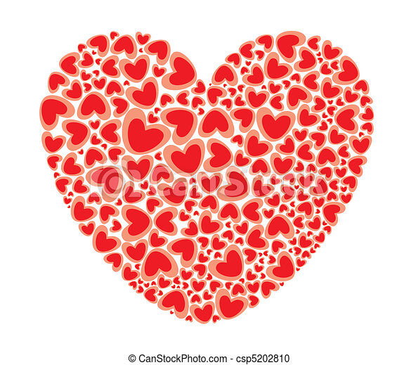 heart full of love st valentines big heart filled with hearts pattern