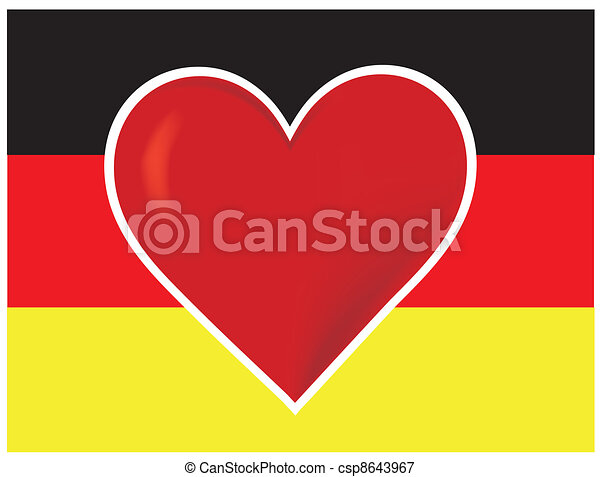 Heart Germany Flag - csp8643967