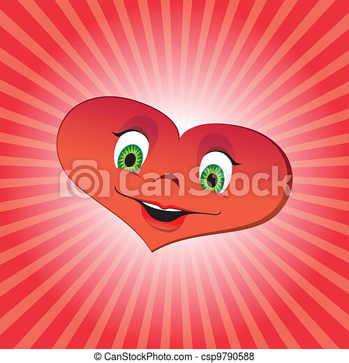 Heart girl character - csp9790588