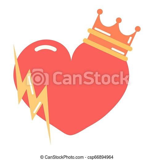 heart girl power - csp66894964