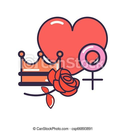 heart girl power - csp66893891