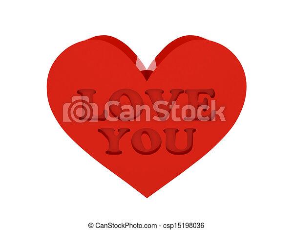 Un Gran Corazón Rojo Phrase Love You Un Gran Corazón Rojo