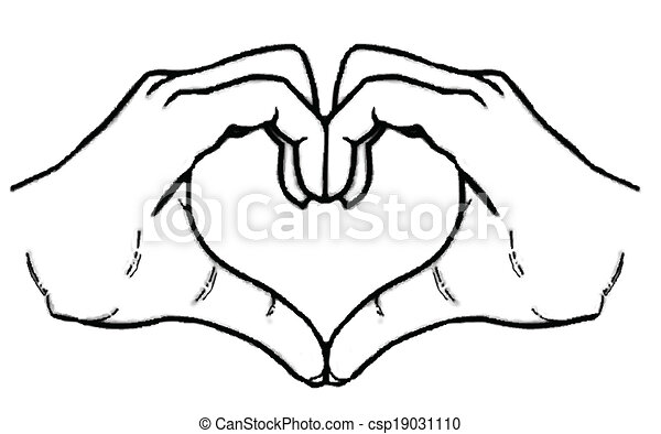 Heart hands vector clip art search illustration drawings and eps heart hands voltagebd Gallery