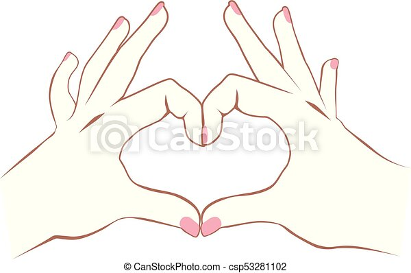 Heart Hands - csp53281102