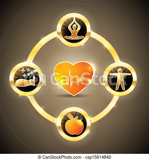 Heart health wheel - csp15614840