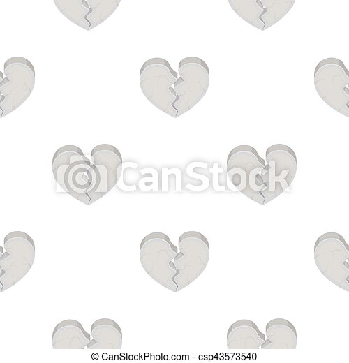 Heart icon in cartoon style isolated on white background. Romantic pattern stock vector illustration. - csp43573540