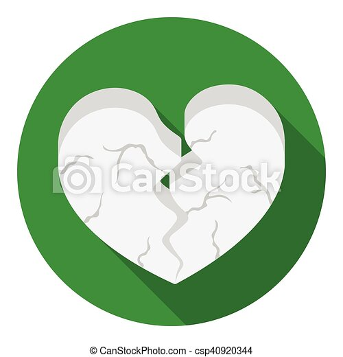 Heart icon in flat style isolated on white background. Romantic symbol stock vector illustration. - csp40920344