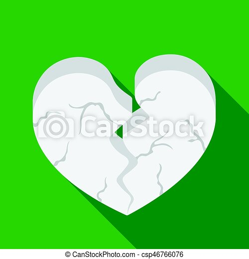 Heart icon in flat style isolated on white background. Romantic symbol stock vector illustration. - csp46766076
