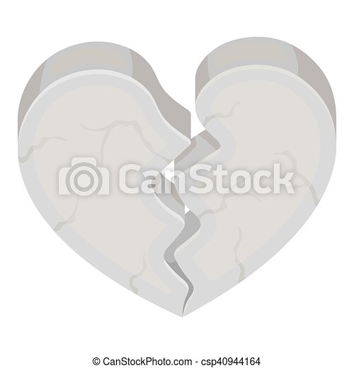 Heart icon in monochrome style isolated on white background. Romantic symbol stock vector illustration. - csp40944164
