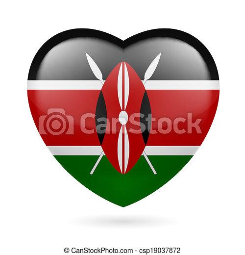 Heart icon of Kenya - csp19037872