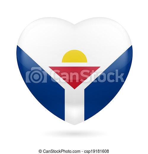 Heart icon of Saint Martin - csp19181608